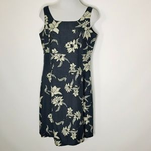 Tommy Bahama Silk Dress Womens 6 Sleeveless Floral